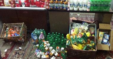 ضبط 160 كيلو جرام مواد غذائية غير صالحة للاستهلاك الآدمى فى أسوان
