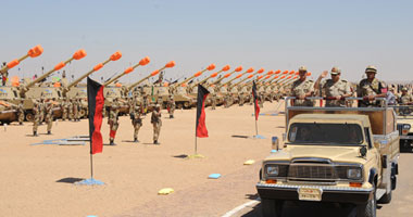 """""""السيسى""""  يشهد تفتيش حرب الفرقة الثالثة بالمنطقة الشمالية العسكرية"""