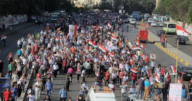 المئات يتظاهرون بسنورس للمطالبة بإسقاط