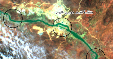 أول صورة سد النهضة الأثيوبى من الأقمار الصناعية
