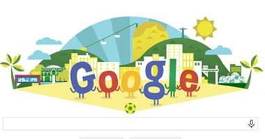 """""""جوجل"""" يحتفل ببدء انطلاق كأس العالم بالبرازيل"""