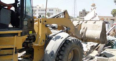 إصابة مأمور قسم مركز المنيا خلال إزالة التعديات على أراضى ملك الدولة
