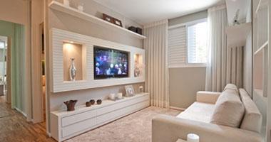 بالصور 5 أفكار ديكور لتستقر شاشة التليفزيون بأناقة فى غرفة المعيشة