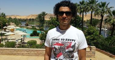 """بالصور.. خالد النبوى يتبنى حملة """"تعالوا إلى مصر"""" لتنشيط السياحة"""