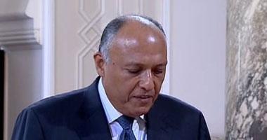 """وزير الخارجية: نجرى اتصالات مع """"حماس"""" بشأن """"المبادرة المصرية"""""""