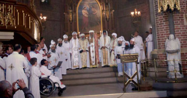 البابا تواضروس يترأس القداس الإلهى فى أوسلو