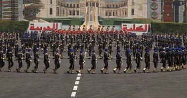 كتيبة من الكلية الحربية تشارك خريجى الشرطة بطابور العرض لأول مرة