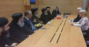 بالصور.. البابا تواضروس يلتقى أعضاء البرلمان الفنلندى
