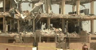 آثار انفجار السنترال