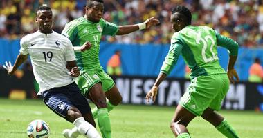 "| 60 دقيقة.. تعادل سلبى ""باهت"" بين نيجيريا وفرنسا"