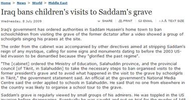 منع أطفال المدارس من زيارة قبر صدام حسين