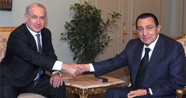 مبارك ونتانياهو فى أحد اللقاءات السابقة