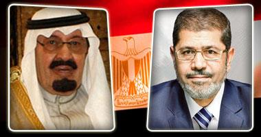 الملك عبد الله والرئيس مرسى