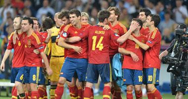 المنتخب الأسباني مواجهة جورجيا التصفيات المؤهلة العالم 2014