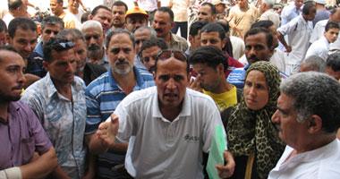"""تظاهر عمال سجاد غزل المحلة أمام """"القوى العاملة"""""""