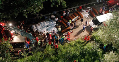 مصرع 24 شخصا وإصابة 29 آخرين جراء سقوط حافلة ركاب فى بيرو