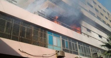 محافظ القليوبية يشكل لجنة لمعاينة آثار حريق مستشفى النيل بشبرا الخيمة