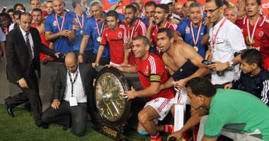 s7201480298 شاهد احتفال لاعبي النادي الاهلي بالفوز بالدوري المصري 2014