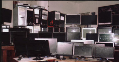 """سرقة أجهزة كمبيوتر من  """"السجل المدنى """" بزفتى"""