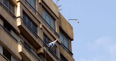 العلم الإسرائيلى من جديد على مبنى السفارة الإسرائيلية
