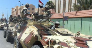 دبابة ومدرعة تشارك ملاحقة الإرهابيين