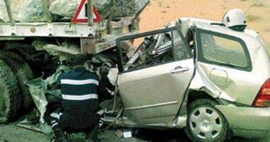 إصابة عميد كلية حقوق الزقازيق وزوجته ومصرع نجلته فى حادث تصادم