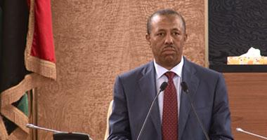 رئيس الحكومة الليبية المؤقتة عبد الله الثنى
