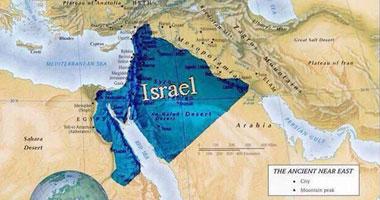 إسرائيليون يتداولون خريطة مملكة داود أجزاء السعوديه 2014 s820141133124.jpg