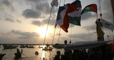 """عودة متضامنى قافلة """"القدس 5"""" الليبية من قطاع غزة"""