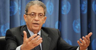 عمرو موسى الأمين العام لجامعة الدول العربية