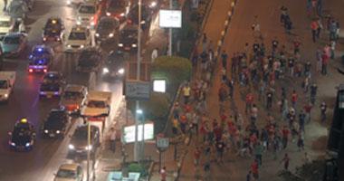 """جانب من أحداث الشغب التى شهدها شارع """"البطل أحمد عبد العزيز"""""""