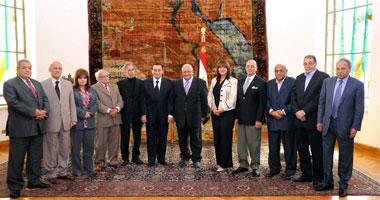 لقاء الرئيس مبارك مع المثقفين
