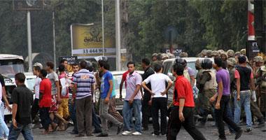 المتظاهرين يتجمعون مجددًا أمام سفارة إسرائيل
