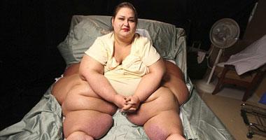 المرأة الأكثر وزنا فى العالم
