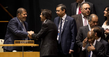 مرسى كلمته بالأمم المتحدة: حرية