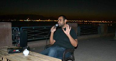 الكاتب محمد التهامى خلال اللقاء