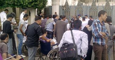 وقفة لمعاقى المنيا أمام مبنى المحافظة لتفعيل بنسبة الـ5 % فى التعيين  الخميس، 2 مايو 2013