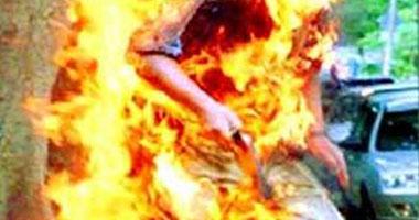 سايس بالزيتون يشعل النار فى طليقته لرفضها العودة له..والنيابة تحيله للجنايات