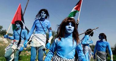 """الفلسطينيون يجسدون أبطال """"آفاتار"""""""
