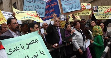 بالصور.. الأقباط يتظاهرون أمام النائب العام