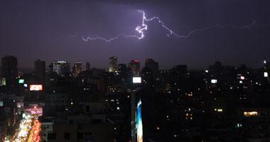 فيديو برق ورعد فى سماء مصر