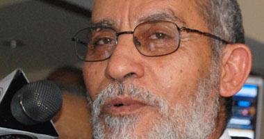 بديع يطالب بحراسة انتصارات الثورة والاستمرار فى المطالبة بالحرية والعدالة
