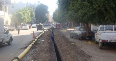 بدء أعمال حفر كابلات كهربائية بوسط البلد دون تحويلات مرورية