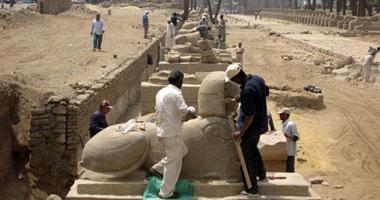 مدير آثار الأقصر: نرمم الآثار التاريخية بمواد متطورة للغاية وليس بالأسمنت