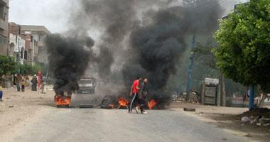 قطع طريق المنصورة ـ منية النصر احتجاجاً على خطف فتاة