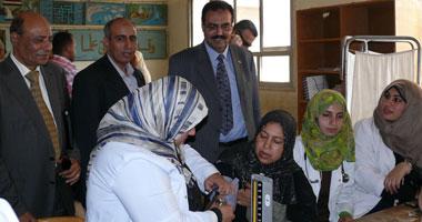 غلق عيادة مدير مستشفى ومعمل تحاليل وعيادة أسنان بقرية بكفر الشيخ
