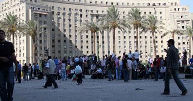 إشتباكات تبادل الحجارة المعتصمين أصحاب التحرير