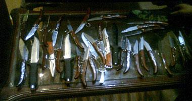مباحث القاهرة تضبط ورشة لتصنيع الأسلحة البيضاء بالشرابية