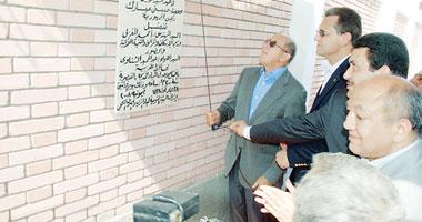 اللواء عبد الحميد الشناوى لحظة افتتاح احدى المشروعات