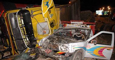 إصابة شخصين فى حادث تصادم سيارتين بالقرب من كمين الطرق بأسيوط Small420092818739